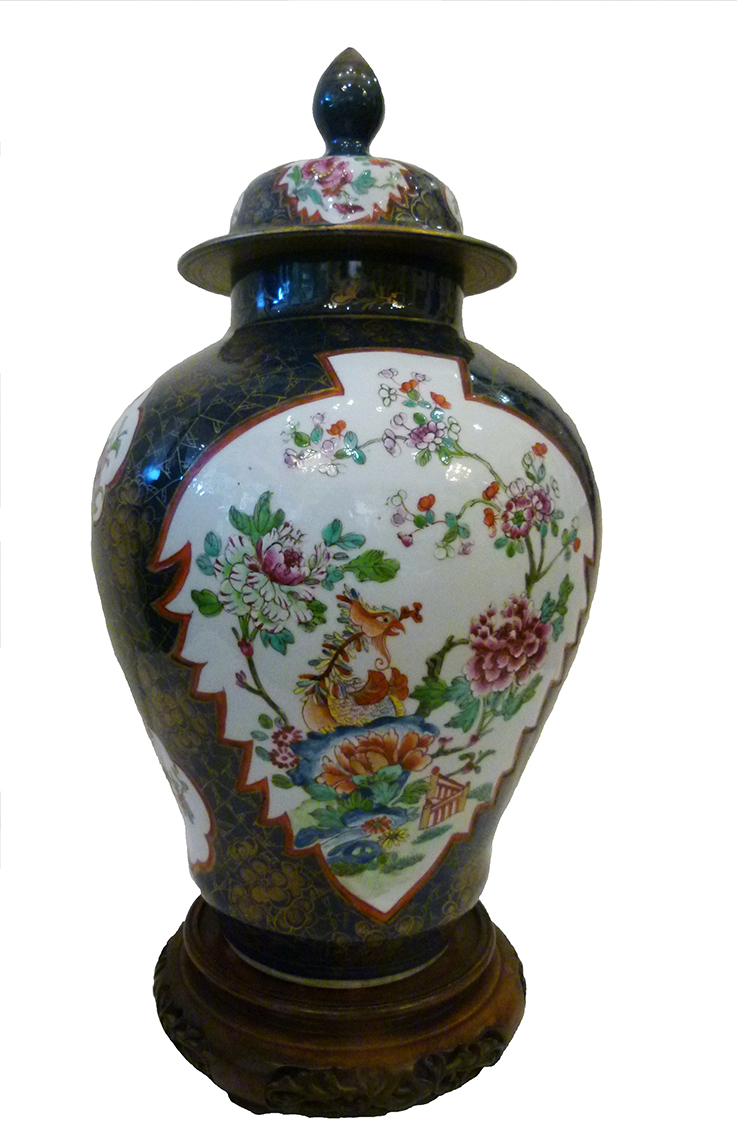 Blossoms and blue Chinese ginger jar _ large_LO