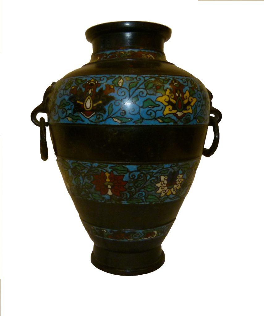 Chinese enamel bronze Urn