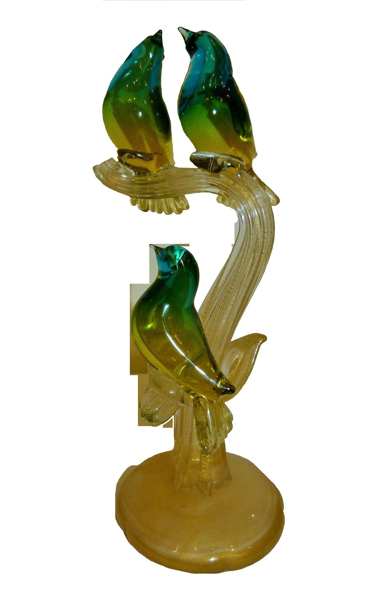 Glass birds statueette_LO