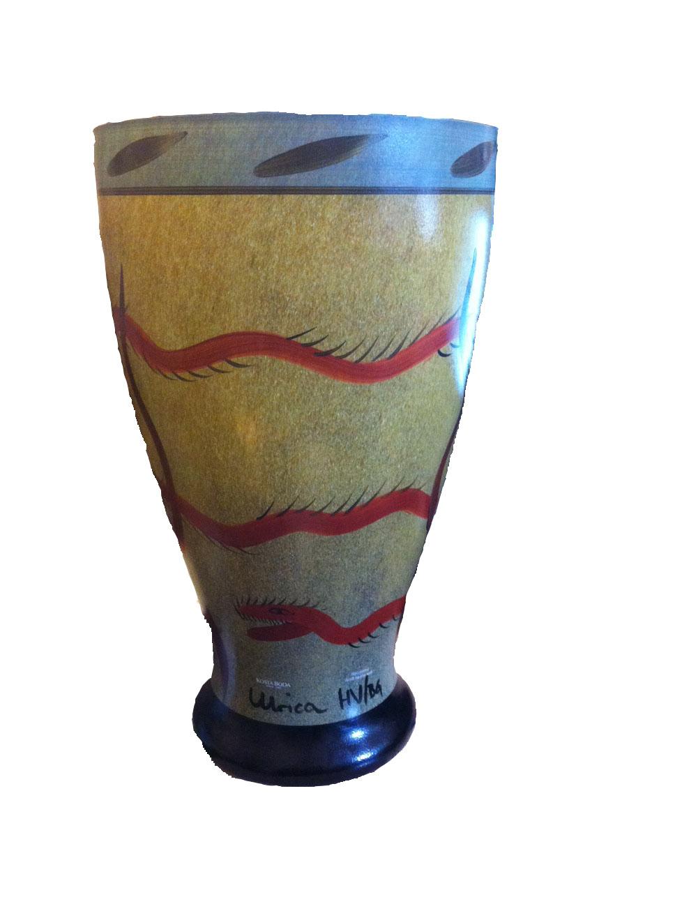 Kosta boda_red dragon vase