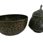 Pewter bowl and pot pair_lo