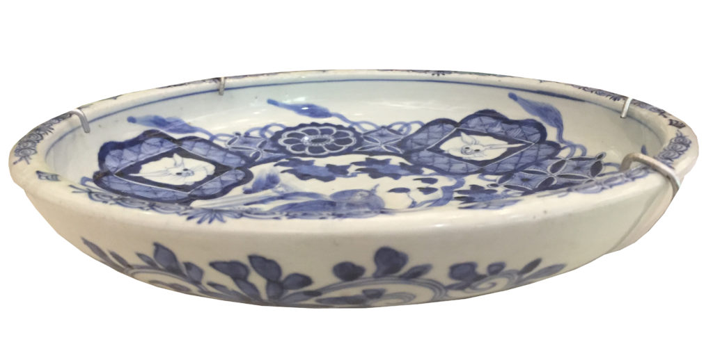 Chinese Bowl_Blue and white with rabbits