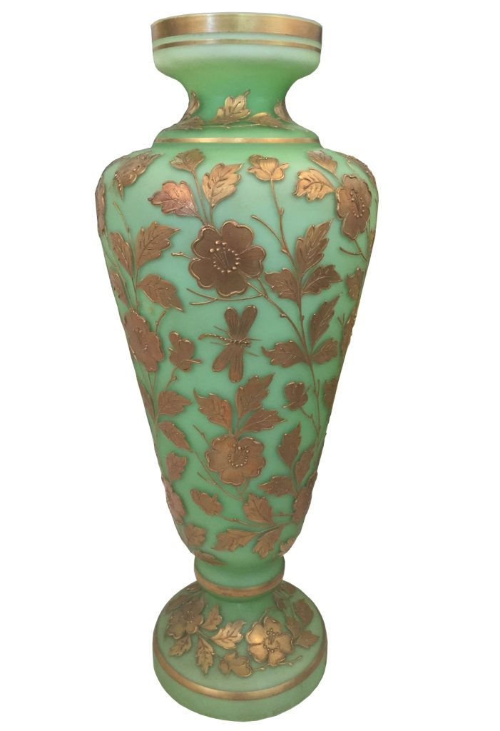 European Vase_Green and gold