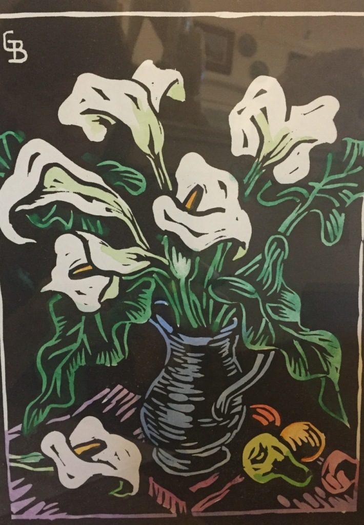 Gregoire Boonzaier_Arum lillies in vase