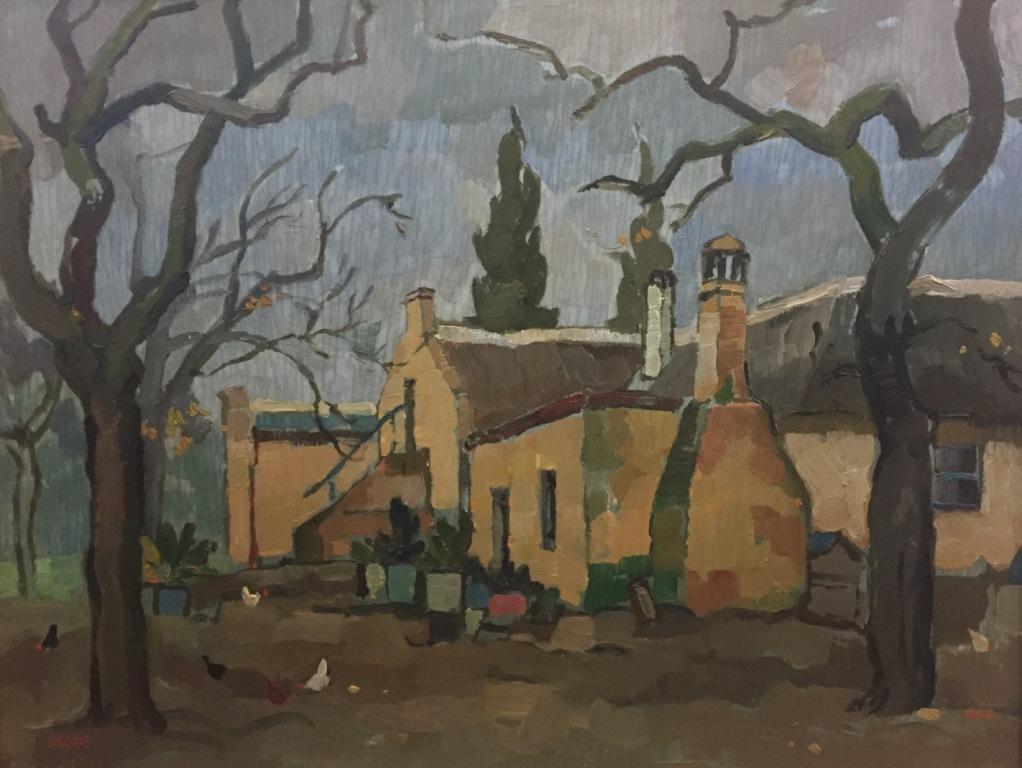 Gregoire Boonzaier_Farmhouse scene