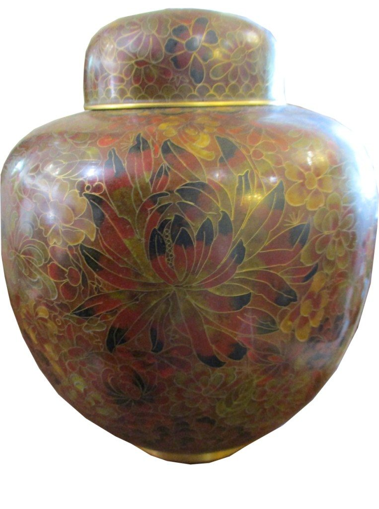 Cloisonne Ginger jar H 26 x 22cm copy