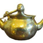 Levabo kettle, cast brass copy