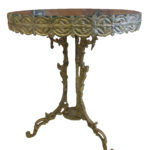 MIS 2818 Filligree Brass glass and side-table copy