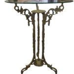 MIS 2819 Brass and glass side-tables